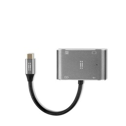 [AIMUSBC1-SG-APR] Aiino - USB-C to HDMI +USB 3.0 +VGA +USB-C Space Grey