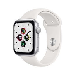 [MYDQ2NF/A] Apple Watch SE GPS, 44mm Silver Aluminium Case with White Sport Band - Regular