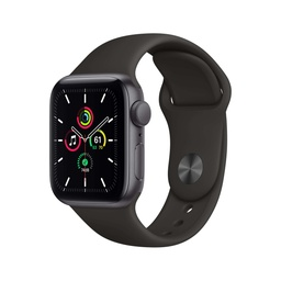 [MYDT2NF/A] Apple Watch SE GPS, 44mm Space Gray Aluminium Case with Black Sport Band - Regular